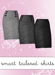 Sims 3 tweed, pencil, skirt, tailored