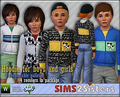 Sims 3 hoodie, child, male, clothing, everyday