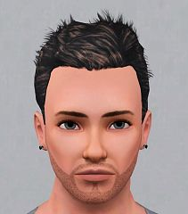 Sims 3 beard, facial hair, genetics