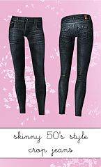 Sims 3 skinny, jeans, denim, cropped
