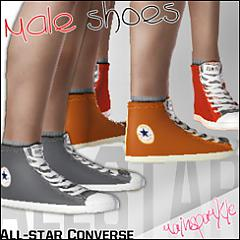 Sims 3 shoes, converse, male