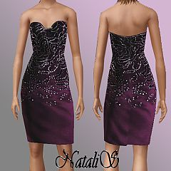 Sims 3 dress, DeLaRenta, formal, pencil