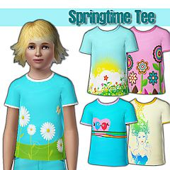 Sims 3 girl, tee, t-shirt, spring, graphic
