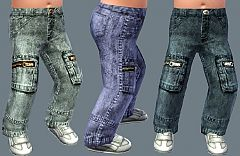Sims 3 toddler, jeans, denim, zipper, boy, girl