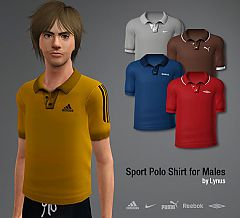 Sims 3 sport, polo, t-shirt, male