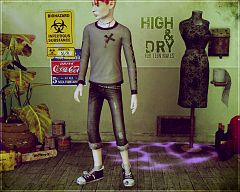 Sims 3 jeans, cloth, clothes, bottom, fashion, males, denim, tees