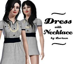 Sims 3 dress, necklace, pearls