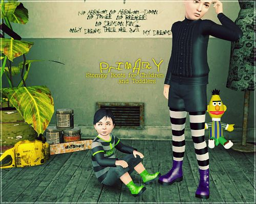 Sims 3 shoes, boots, children, toddlers