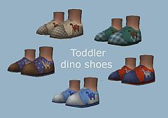 Sims 3 shoes, toddler, boy, dino, dinosaurs
