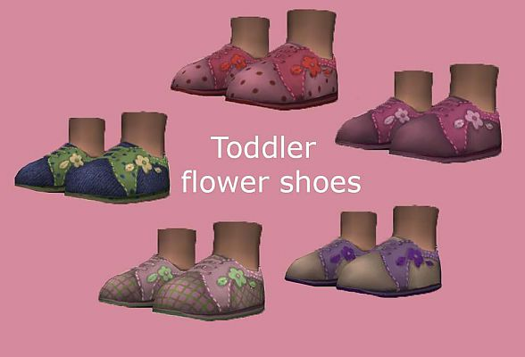 Sims 3 toddler, shoes, girl, flower