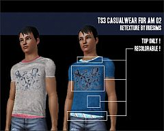 Sims 3 t-shirt, layered, men