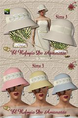 Sims 3 fashion, dress, gown, hat, accessories, wedding