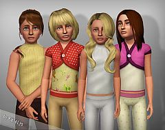 Sims 3 top, bottom, child, everyday