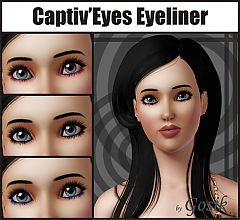 Sims 3 eyeliner, eyes, makeup, female