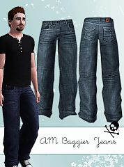 Sims 3 baggie, jeans, men, denim