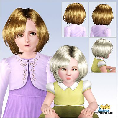 Sims 3 hair, hairstyle, genetics, female, children