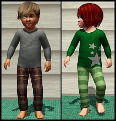 Sims 3 pajamas, clothing, toddler