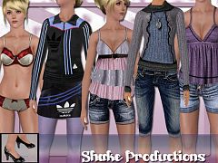 Sims 3 cloth, clothes, fashion, set, meshes