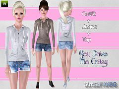 Sims 3 outfit, clothing, fashion, female, athletic