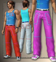 Sims 3 athletic, tee, bottom, clothing, male