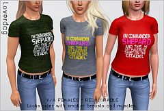 Sims 3 tshirt, top, cloth, clothes, fashion