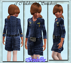 Sims 3 dress,fashion, denim, children