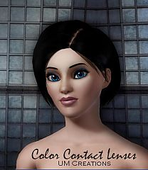 Sims 3 contact lenses, makeup, female, male