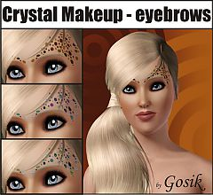 Sims 3 makeup, costume makeup, eyebrows, brows, female