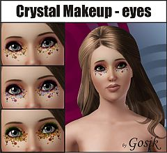 Sims 3 eyes, makeup, costume makeup, crystal