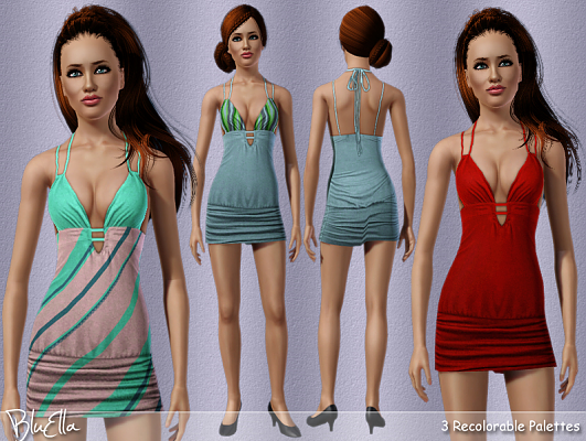 Sims 3 outfit, dress, fashion, clothing, female