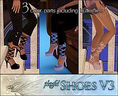Sims 3 shoes, platforms, sandals