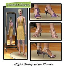 Sims 3 shoes, sandals, flowers