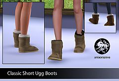 Sims 3 shoes, ugg, boots