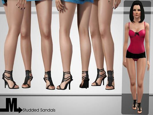 Sims 3 shoes, boots, footwear, sandals