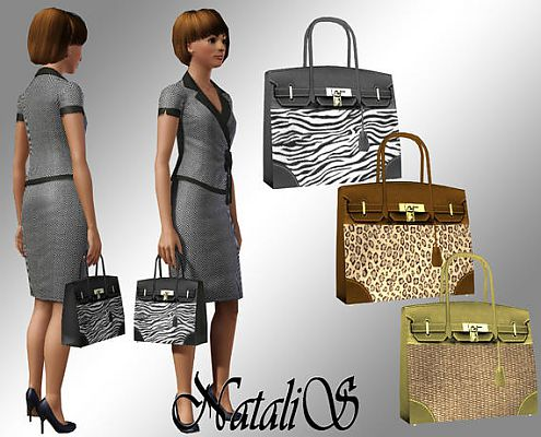 Sims 3 handbag, accessories, female
