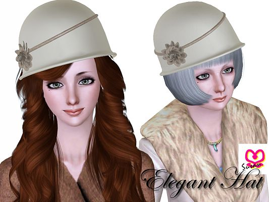 Sims 3 hat, elegant, accessories, female