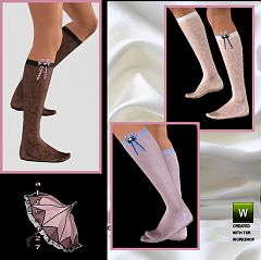 Sims 3 socks, accessories, fashion, female