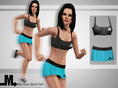 Sims 3 clothing, athletic, female