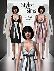 Sims 3 dress, pencil, bow