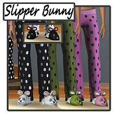 Sims 3 slipper, bunny, bunnies, sleepwear