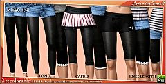 Sims 3  leggings,  knee, capris, long