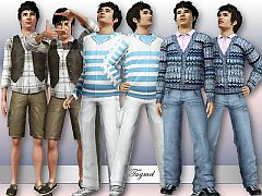 Sims 3 male, clothes, fashion, set