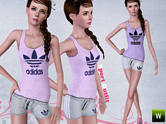 Sims 3 outfit, clothing, fashion, athletic