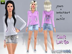 Sims 3 outfit, fashion, clothing, female, sweatshirt