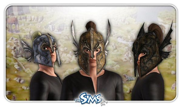 Sims 3 hat, accessories, male, medieval