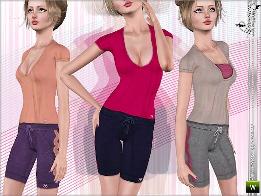 Sims 3 outfit, athletic, fashion