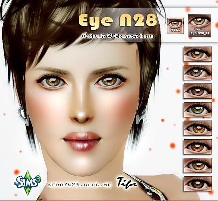 Sims 3 contact lenses, eyes, female