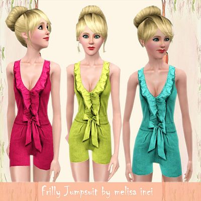 Sims 3 jumpsuit, fashion, clothing, female