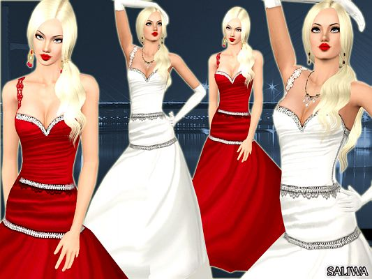 Sims 3 dress, gown, wedding, fashion