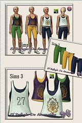 Sims 3 cloth, clothes, sport, athletic
